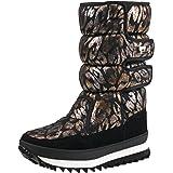 Shenji Scarpe Donna Invernali - Stivali da Neve A Mezza Gamba Antisdrucciolo H9489