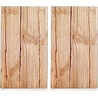 Zeller 26277 Tagliere in legno  Set di 2 pz  vetro