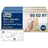 Tork Xpress Essuie-mains interfoliés extra doux - 600297 - Papiers d'essuyage pliés en M, qualité Premium pour Distributeur H