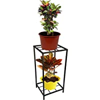 ORCHID ENGINEERS Iron Plant Stand/Pot Stand for Balcony(2 Stier, 2 Tier)