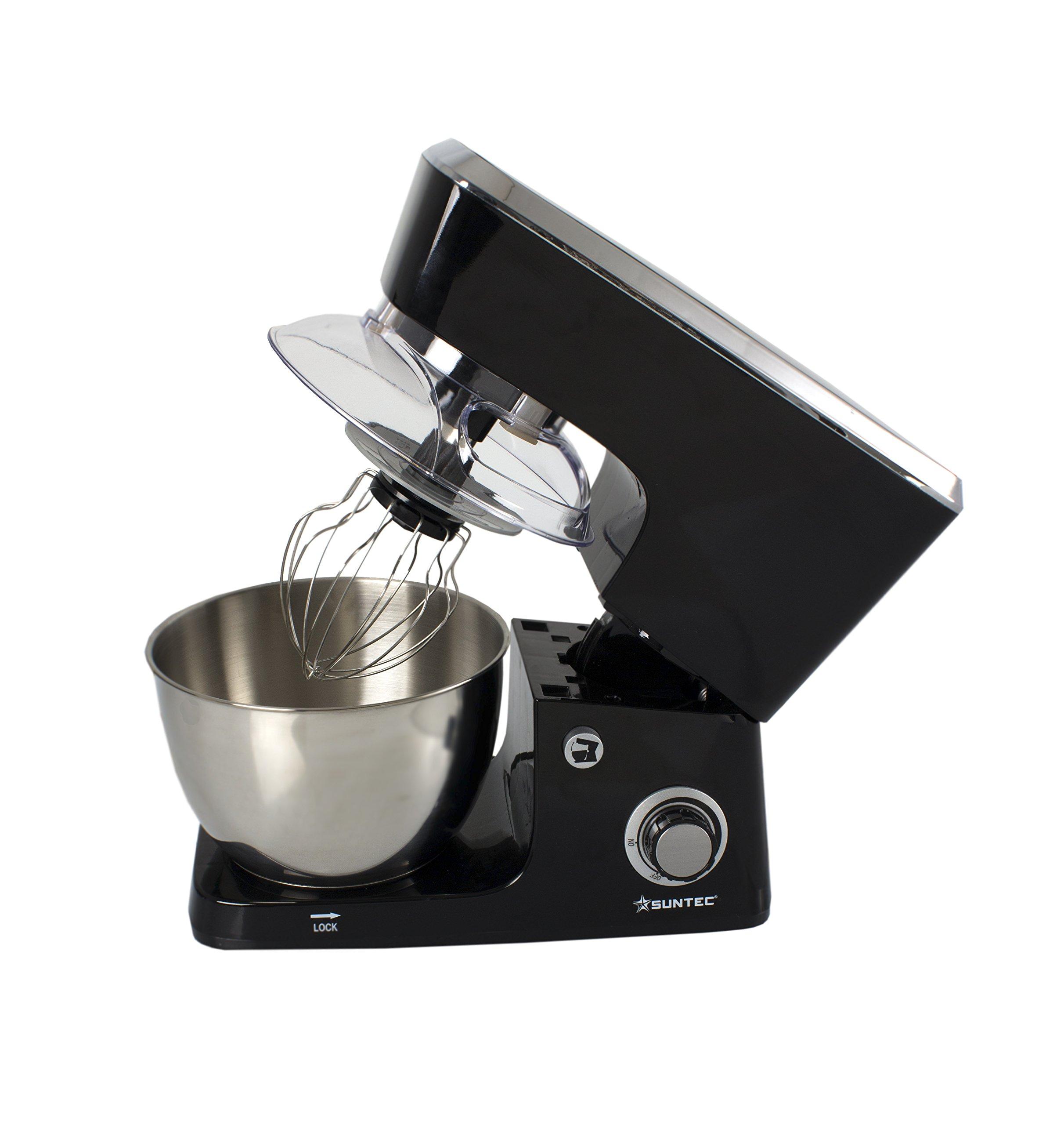 SUNTEC-Kchenmaschine-MIX-9639-Standmixer-mit-Edelstahl-Schssel-35-l-Knethaken-Schneebesen-max-600-Watt