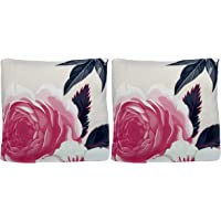 House of Quirk Polyester Floral Home Sofa Decorative Flower Throw Pillow Case Cushion Cover (Cover Only, No Insert), 16…