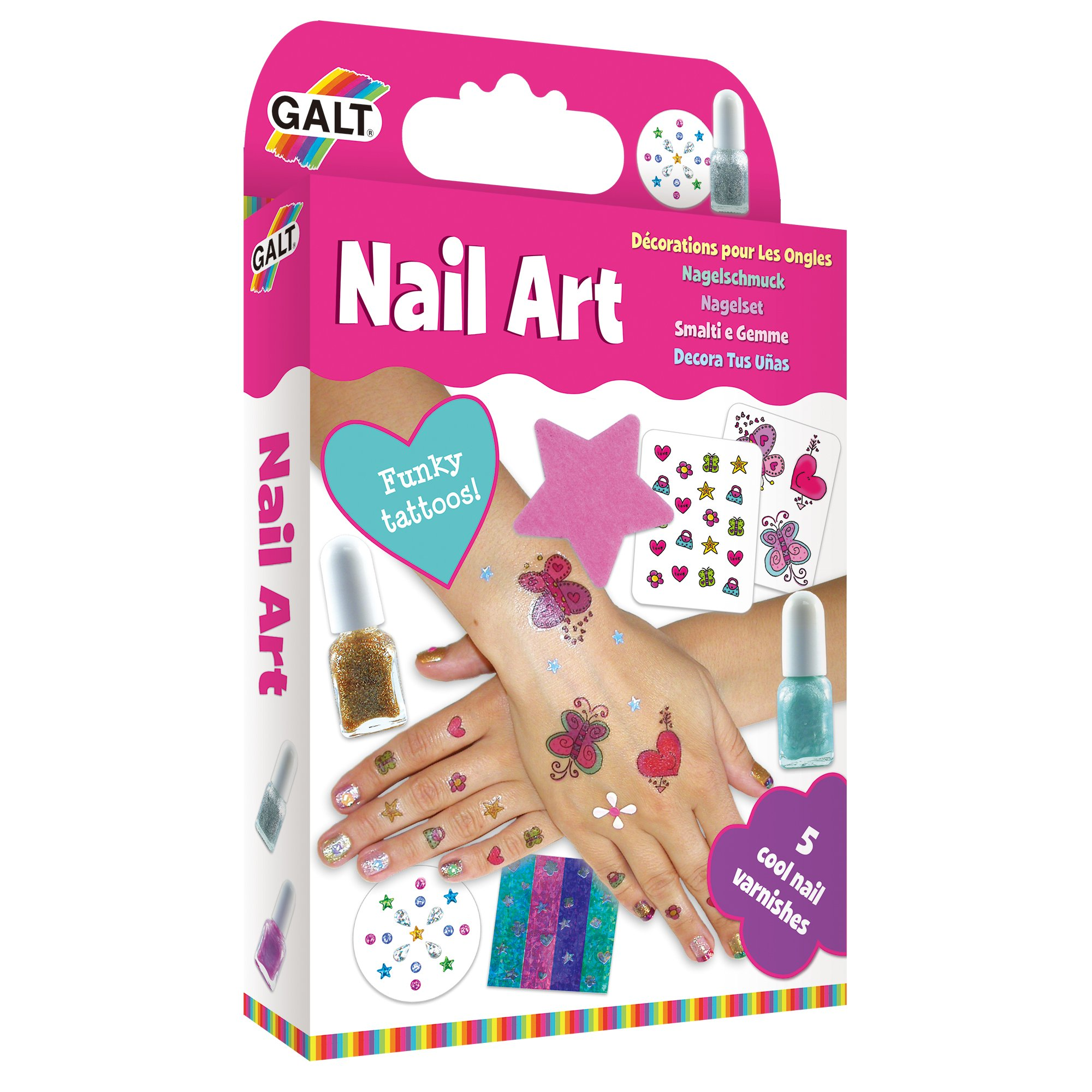 Kids Set Girls Nail Art Kit Toys Gift Childrens Craft Creative