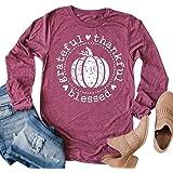 BANGELY - Camiseta de Manga Larga para Mujer, diseño de Calabaza