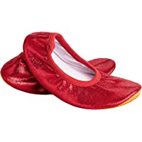 Siegertreppchen® Gymnastics Shoes Glitter (Size 23 - 40) Red Gymnastics Shoes for Children & Adults Ballet Shoes…