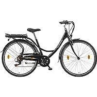 Teutoburg Senne Pedelec Citybike leicht Elektrofahrrad, 28 Zoll, mit 6-Gang Shimano Kettenschaltung, 250W und 10,4 Ah…