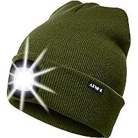 ATNKE LED beleuchtete Mütze, wiederaufladbare USB-Laufmütze mit extrem Heller 4-LED-Lampe und Blinkender…