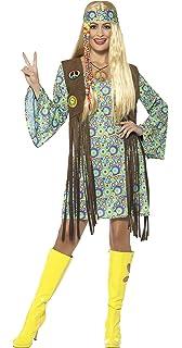 Smiffys Costume hippie cool ann/ées 60 avec gilet chemise et pantalon /à pattes,Multicolore,XL multicolore