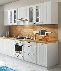 Möbel für Dich Landhaus Einbauküche LORA Küchenzeile 260