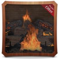 Rocky Fireflames HD - Fireplace Wallpaper & Themes