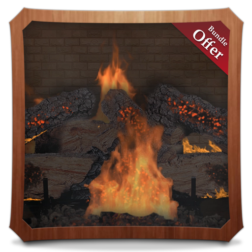 Rocky Fireflames Hd Fireplace Wallpaper Themes Amazon Fr