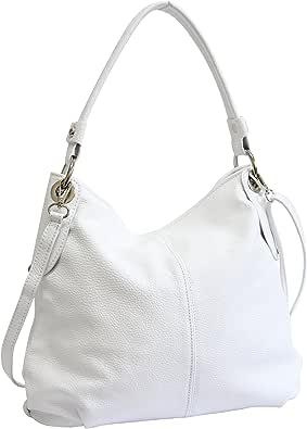 AMBRA Moda Borsa da donna di vera pelle, borsa a spella GL012
