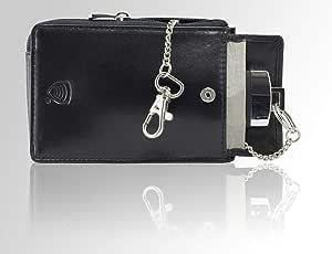 Koruma Kfz Keyless Go Schutz Autoschlüssel Rfid Case Schwarz Leder Tasche Box