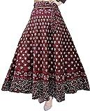 Kanika Fashion Women Maxi Skirt (RCSKIRT01_Red_Free Size)