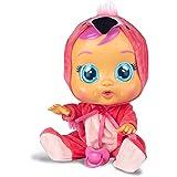 Bebés Llorones Fancy - Muñeca interactiva que llora de verdad con chupete y pijama de Flamenco
