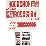 Ecoshirt EO-YFHE-YSSO Stickers Fork Rock Shox SID 2018 Am179 Aufkleber Decals Autocollants Fourche Rouge
