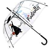 Mary Poppins - Paraguas recto transparente