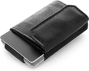 JAIMIE JACOBS Minimalist Wallet Nano Boy Pocket Mini Wallet, Kreditkartenetui, Mini Geldbörse aus Textil, Kleiner Geldbeutel mit Zugband, Schmaler Kartenhalter, Mini-Portemonee für Herren und Damen