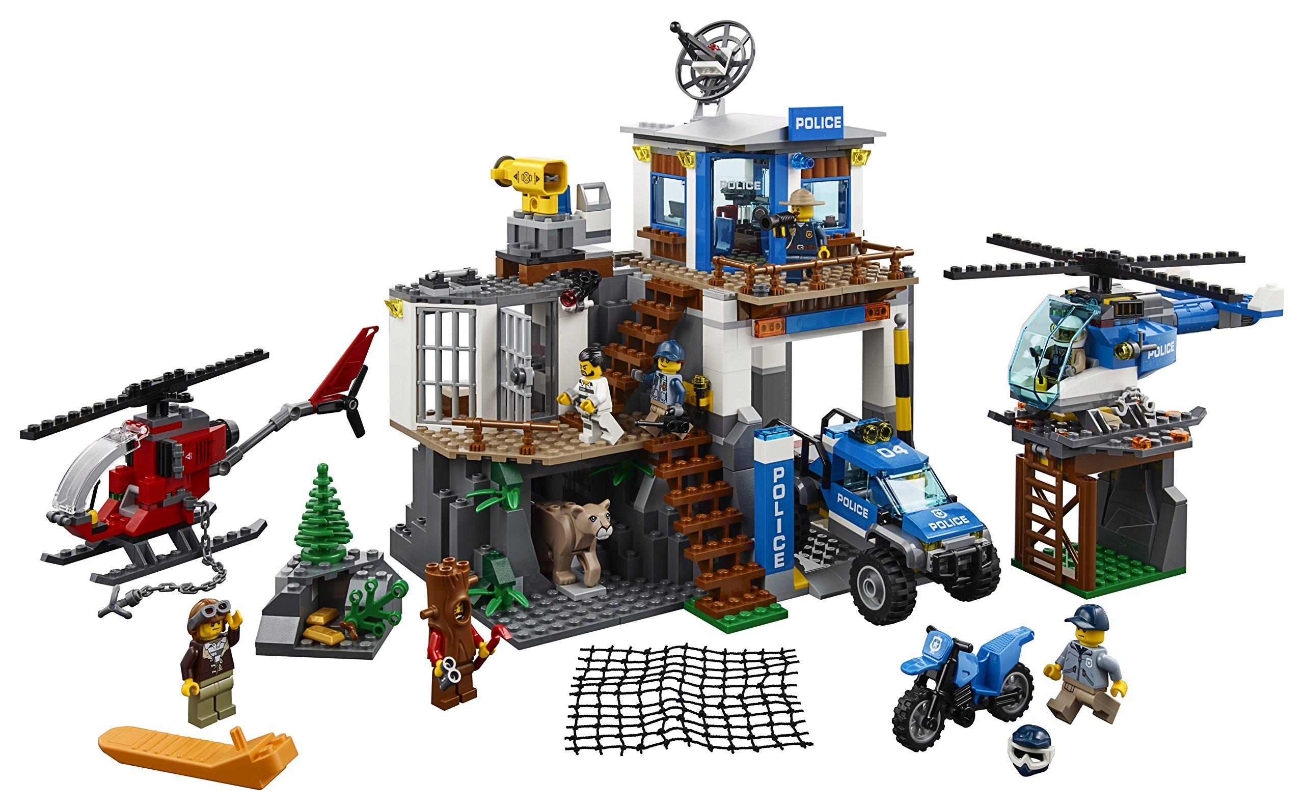 LEGO- City PoliceQuartier Generale della Polizia di Montagna, Multicolore, 60174 2 spesavip