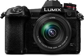 Panasonic DC-G9MEG-K Lumix G Systemkamera (20MP, 4K, 6K-Foto, Bildstabilisator, OLED-Sucher, WiFi, Staub- und Spritzwasserschutz) mit Objektiv Schwarz 12-60 mm / F3.5-5.6 ASPH. / POWER O.I.S.