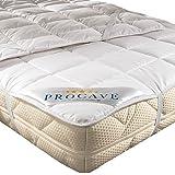PROCAVE Miękki podkład ze 100% bawełny, oddychający ochraniacz na materac, wysokiej jakości nakładka na materac 140 x 200 cm
