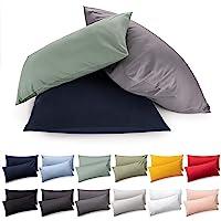 Blumtal 2er Set Kissenbezug 40 x 40 cm - 100% Baumwolle, Superweicher Premium Jersey Kopfkissenbezug, Kissenhülle…