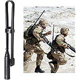 Bingfu Antena Walkie Talkie SMA Hembra Doble Banda VHF UHF 136-520MHz Táctica CS Plegable Suave Antena Radioaficionado Radio