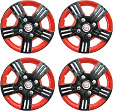 Hotwheelz Black Red 14 inch Wheel Cover for Maruti Swift (Set of 4)
