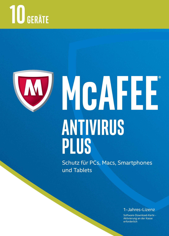 McAfee AntiVirus Plus 2017 für 10 Geräte [Onlin...