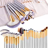 Make up Brushes, VANDER LIFE 24pcs Premium Cosmetic Makeup Brush Set for Foundation Blending Blush Concealer Eye Shadow, Crue