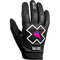 Muc-Off Black MTB Gloves, Extra Small - Premium, Handmade Slip-On Gloves For Bike Riding - Breathable, Touch-Screen…