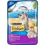 طعام رطب فريسكيز للقطط البالغة بنكهة الماكريل من بورينا، 80 غرام