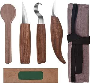 Schnitzen Meißel Messer /& Löffel Schnitzen Süchtig Messer Wood Carving Set-2pcs