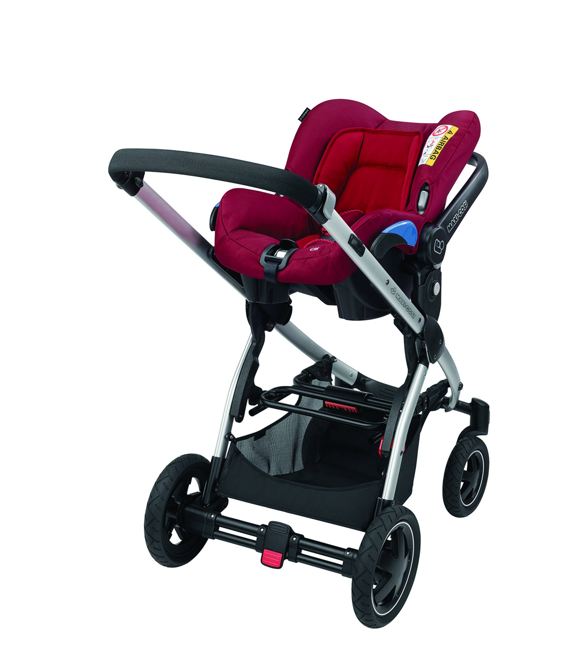 Maxi-Cosi Kinderautositz Citi Robin Red Maxi-Cosi Side protection system, guarantees optimal protection in the event of a side impact Lightweight, light weight and ergonomically shaped safety bar for use as carrying handle Practical travel system 11