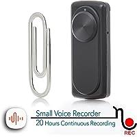 Micro enregistreur vocal   Capacité de 8 Go -141 heures   20 heures de vie de la batterie   Facile à utiliser - idéal pour Bureau, Classe, Réunion- nanoREC par aTTo digital
