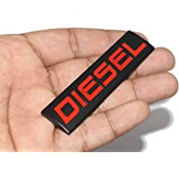 Incognito-7 3D Laxury Fuel Tank Diesel Car Badge Sticker for All Cars, Jeep - Metal (Black)