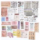 120PCS Autocollants Stickers Etiquettes Adhésif Style Vintage Scrapbooking Album Photo pour Journal plan bricolage artisanat