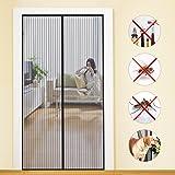 MYCARBON Fliegengitter Tür Insektenschutz Magnet Fliegenvorhang110*220 | 90 * 210 - Klebmontage ohne Bohren - Vorhang für Balkontür Wohnzimmer Schiebetür Terrassentür