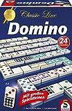 Schmidt Spiele 49207 49207-Classic Line-Domino, mit extra großen Spielsteinen, bunt