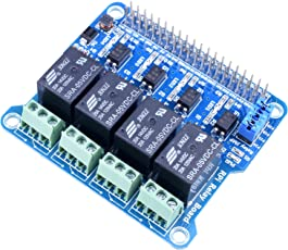 Kuman 4 Channel Raspberry Pi Expansion Board Power Relay Board Module for Raspberry Pi 3 2 A+ B+ 2B 3B, Making Home Appliances Intelligent K82