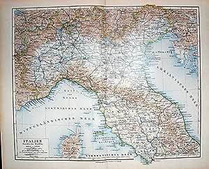 Deutsche Karte Italien Italien Korsika Elba Meyers Atlas