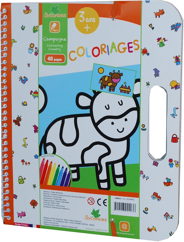 Sy ore CRE6013 Coloriage Enfant Coloriages Animaux 40 Pages 3 Ans Amazon Jeux et Jouets