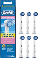 Oral-B Sensitive Aufsteckbürsten für elektrische Zahnbürsten, 6 Stück