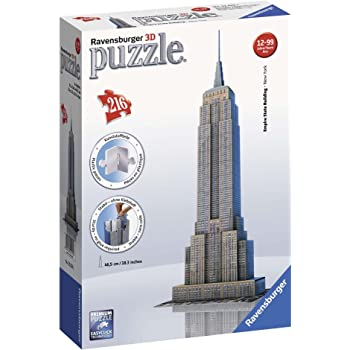 Ravensburger 12553 -  Empire State Building - Puzzle 3D Building - 216 pezzi