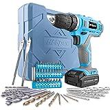 Hi-Spec 50-Delige Elektrische 12V Li-ion Boormachine & Multi-Bit Set. Draadloos Elektrisch Gereedschap om te Schroeven en Bor