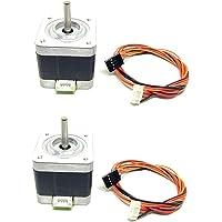 INVENTO 2Pcs Nema 17, 4 Kg-cm Bipolar Stepper Motor For CNC Robotics DIY Projects 3D Printer