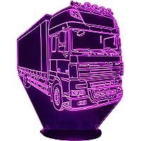 DAF XF 19 tonnellate, Lampada illusione 3D con LED - 7 colori.