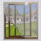 NeatiEase Raamhor,met eenvoudig te monteren PVC magneetframe, max 130 x 150 cm, magnetisch frame voor vliegengaas, ramen, was