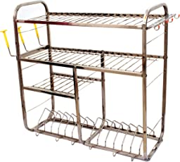 DECROTIC Wall Mounted Kitchen Racks Cutlery Stand, 24x24-inches (17000)