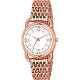 PAPIO Analog White Dial Rose Gold Color Metal Belt Women's and Girl's Watch